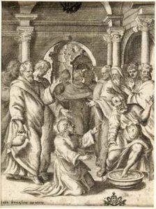 Cristo lava i piedi agli Apostoli (dalla serie: La Passione di Nostro Signore Gesù Cristo)