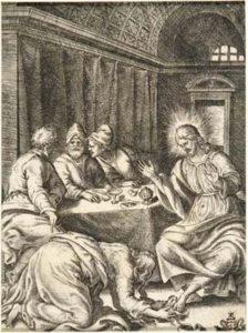 Maddalena ai piedi di Gesù in casa di Simone il Fariseo (dalla serie: La Passione di Nostro Signore Gesù Cristo)