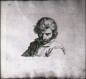 Busto di uomo con baffi