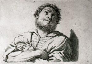 Busto di uomo con braccia incrociate sul petto